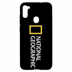 Чехол для Samsung A11/M11 National Geographic logo
