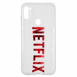 Чехол для Samsung A11/M11 Netflix logo text