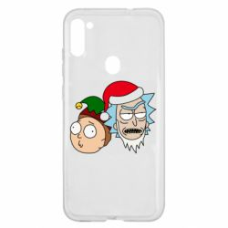 Чехол для Samsung A11/M11 New Year's Rick and Morty