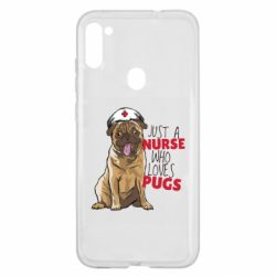 Чехол для Samsung A11/M11 Nurse loves pugs