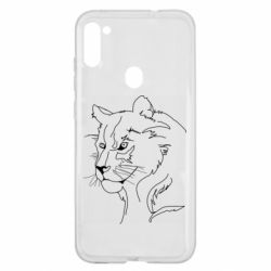 Чехол для Samsung A11/M11 Outline drawing of a lion