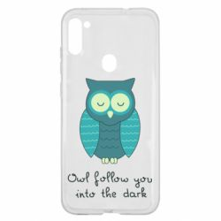 Чехол для Samsung A11/M11 Owl follow you into the dark