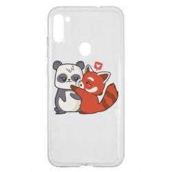 Чохол для Samsung A11/M11 Panda and fire panda