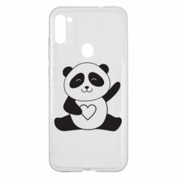 Чохол для Samsung A11/M11 Panda and heart