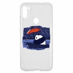 Чехол для Samsung A11/M11 Panda and rain