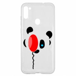 Чехол для Samsung A11/M11 Panda and red balloon