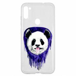 Чехол для Samsung A11/M11 Panda on a watercolor stain