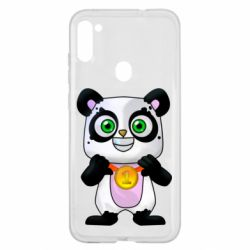 Чехол для Samsung A11/M11 Panda with a medal on his chest