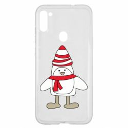 Чехол для Samsung A11/M11 Penguin in the hat and scarf