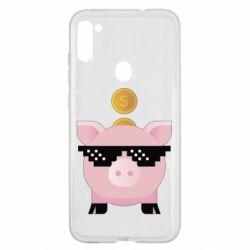Чохол для Samsung A11/M11 Piggy bank