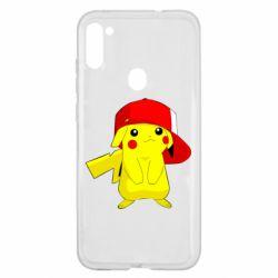 Чехол для Samsung A11/M11 Pikachu in a cap