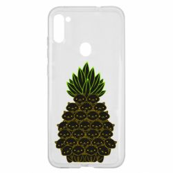 Чехол для Samsung A11/M11 Pineapple cat