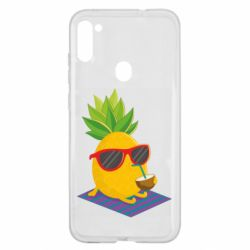 Чехол для Samsung A11/M11 Pineapple with coconut