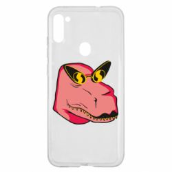 Чохол для Samsung A11/M11 Pink dinosaur with glasses head