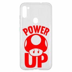 Чехол для Samsung A11/M11 Power Up гриб Марио