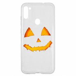 Чохол для Samsung A11/M11 Pumpkin face features