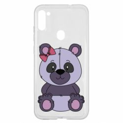 Чохол для Samsung A11/M11 Purple Teddy Bear