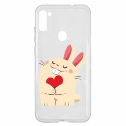 Чехол для Samsung A11/M11 Rabbit with heart
