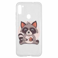 Чохол для Samsung A11/M11 Raccoon with cookies
