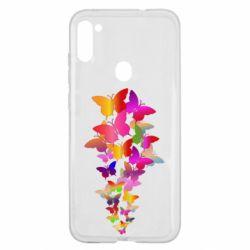 Чохол для Samsung A11/M11 Rainbow butterflies