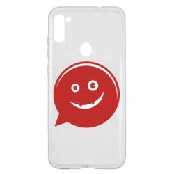 Чехол для Samsung A11/M11 Red smile