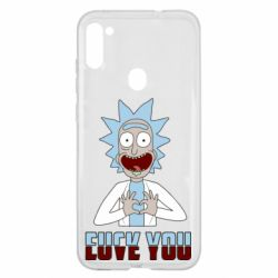 Чохол для Samsung A11/M11 Rick and Morty fack and love you