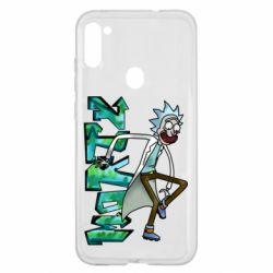 Чохол для Samsung A11/M11 Rick and text Morty