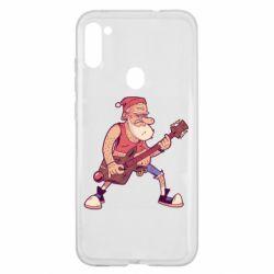 Чохол для Samsung A11/M11 Rock'n'roll Santa
