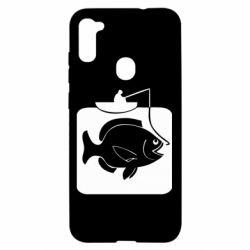 Чехол для Samsung A11/M11 Рыба на крючке