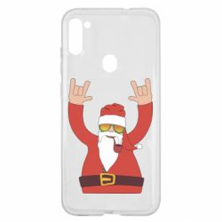 Чохол для Samsung A11/M11 Santa Claus with a tube