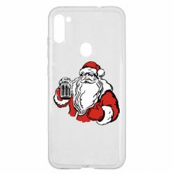 Чехол для Samsung A11/M11 Santa Claus with beer