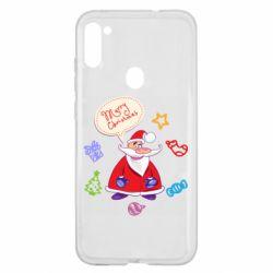 Чехол для Samsung A11/M11 Santa says merry christmas