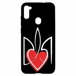 Чехол для Samsung A11/M11 Серце з гербом