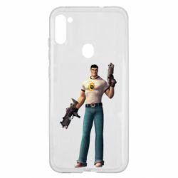 Чехол для Samsung A11/M11 Serious Sam with guns