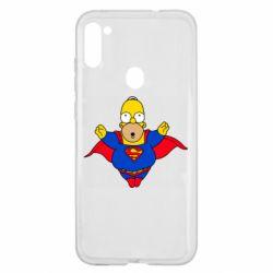Чехол для Samsung A11/M11 Simpson superman