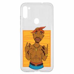 Чохол для Samsung A11/M11 Singer Tupac Shakur