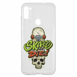 Чохол для Samsung A11/M11 Skate or die skull