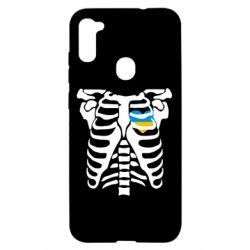 Чохол для Samsung A11/M11 Скелет з серцем Україна