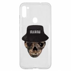Чехол для Samsung A11/M11 Skull in hat and text