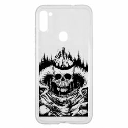 Чохол для Samsung A11/M11 Skull with horns in the forest