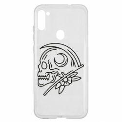 Чохол для Samsung A11/M11 Skull with scythe