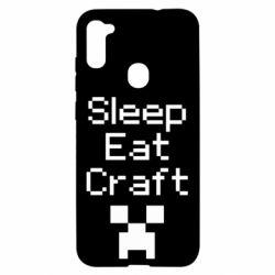 Чохол для Samsung A11/M11 Sleep,eat, craft