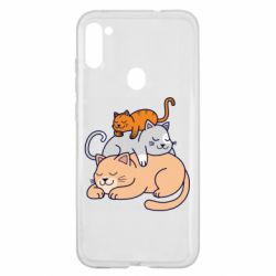 Чехол для Samsung A11/M11 Sleeping cats