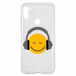 Чехол для Samsung A11/M11 Smile in the headphones