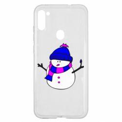 Чехол для Samsung A11/M11 Снеговик