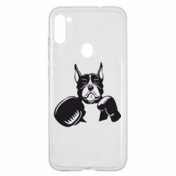 Чохол для Samsung A11/M11 Собака в боксерських рукавичках