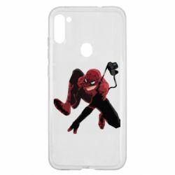 Чехол для Samsung A11/M11 Spiderman flat vector