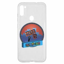 Чехол для Samsung A11/M11 Stand up, speak out
