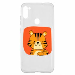 Чехол для Samsung A11/M11 Striped tiger with smile