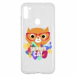 Чехол для Samsung A11/M11 Summer cat